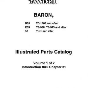 Beechcraft Baron B55 E55 58 Illustrated Parts Catalog