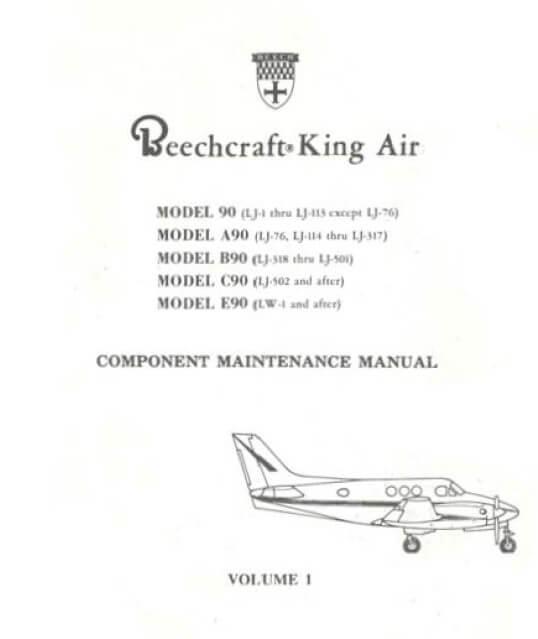 Beechcraft King Air Model 90 Component Maintenance Man
