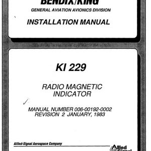 Bendix King KI 229 Radio Magnetic Installation-Maintenance Manual