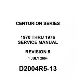 Cessna 210 Centurion Series Service Manual 1970 thru 1976