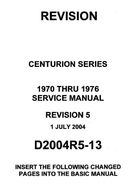 Cessna 210 Centurion Series Service Manual 1970 thru 1976