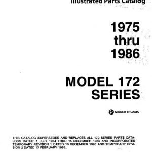 Cessna Model 172 Series 1996 Illustrated Parts Catalog