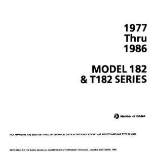 Cessna Model 182 & T182 Series 1977 thru 1986 Service Manual
