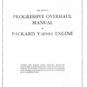 Engine Progressive Overhaul Manual-Rolls Royce Packard V-1650-1