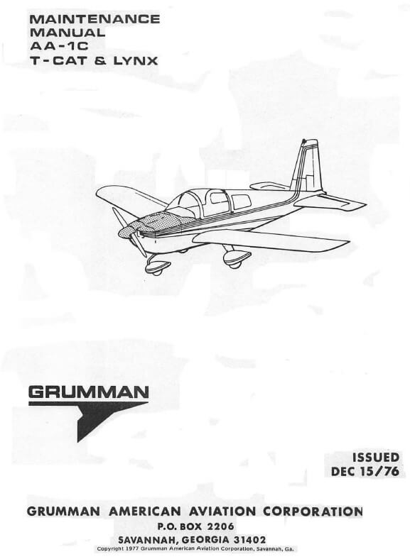 Grumman Maintenance Manual AA-1C T-CAT & LYNX