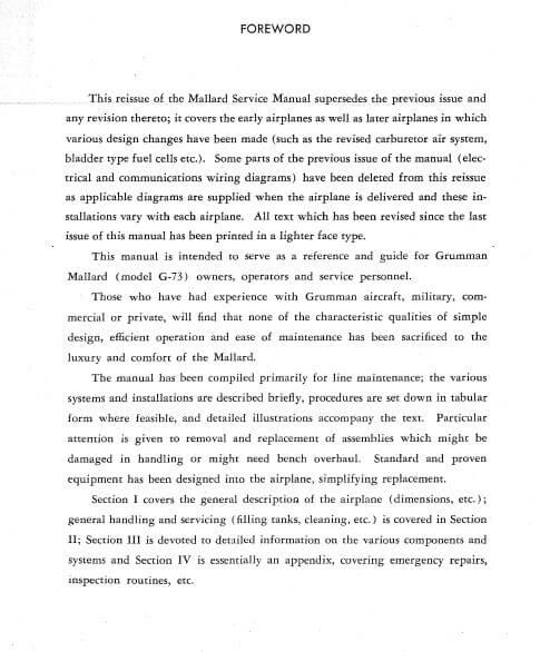 Grumman Mallard Amphibian Model G-73 Service Manual.3