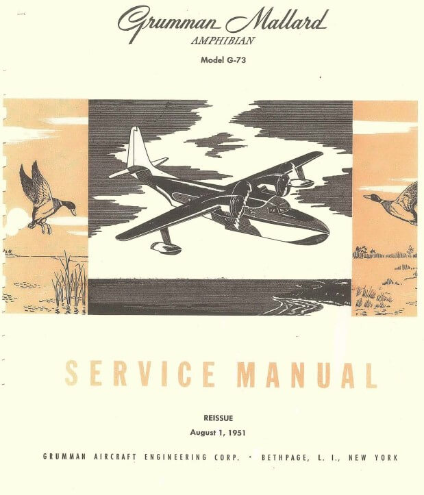 Grumman Mallard Amphibian Model G-73 Service Manual