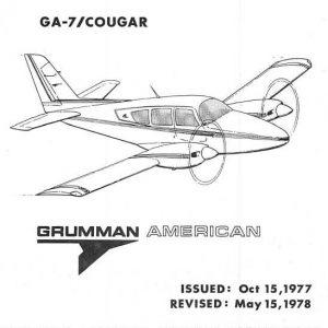 Grumman Model GA-7 Cougar Illustrated Parts Catalog 1978
