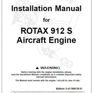 Installation Manual for ROTAX 912 S Aircraft Engine