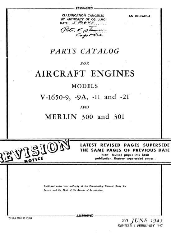 Rolls Royce MERLIN Engine Parts Catalog.3