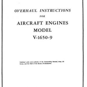 Rolls Royce Overhaul Instructions For Aircraft Engines Model V-16S0-9