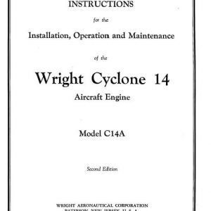 Wright Cyclone 14 Instruction for the Installation, Operation and Maintenance