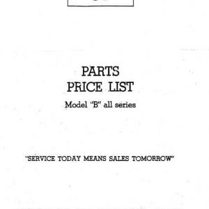Taylorcraft parts and price list Model -B