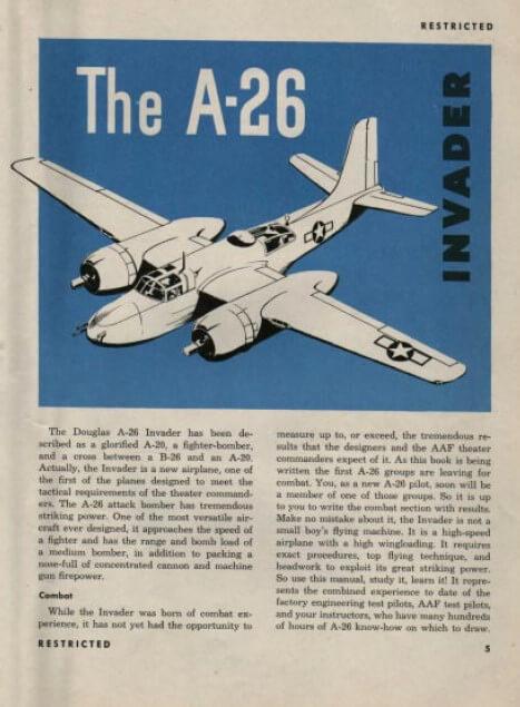 A-26 Invader Pilot Training Manual3