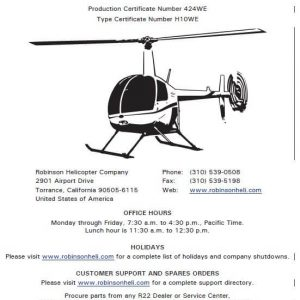 Robinson-R22-Maintenance-Manual-RTR-060-2018