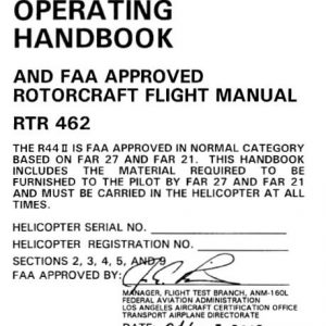 Robinson R44 II Pilot's Operating Handbook