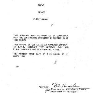 DH-2 Beaver Flight Manual