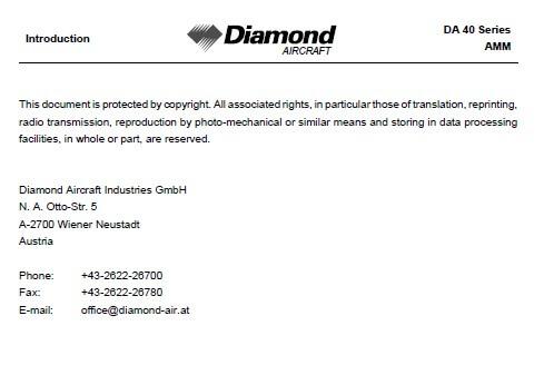Diamond - DA 40 SERIES AIRPLANE MAINTENANCE MANUAL2