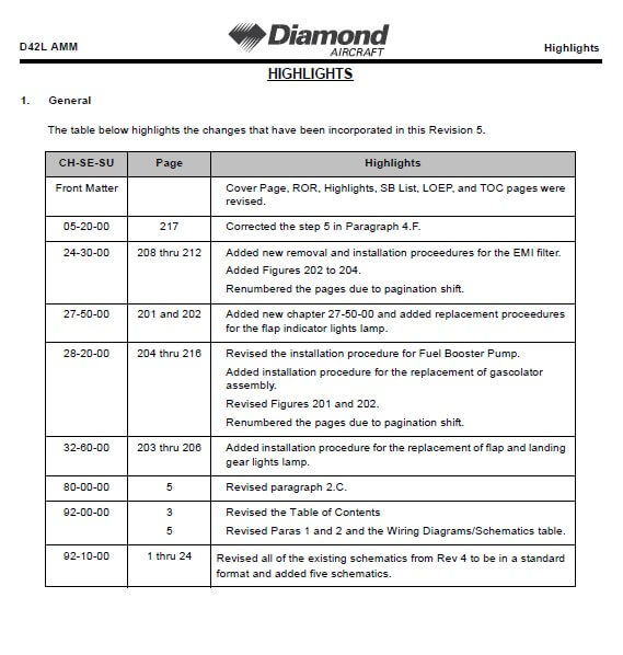 Diamond DA42-L360 Aircraft Maintenance Manual3