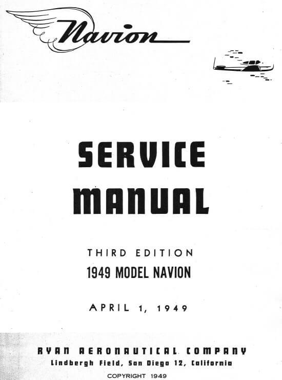 Navion Service Manual 19493