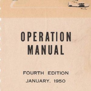Ryan 205 Operation Manual
