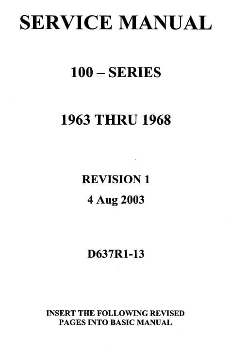Cessna 100 Series Service Manual 1963 THRU 1968 D637R1-13