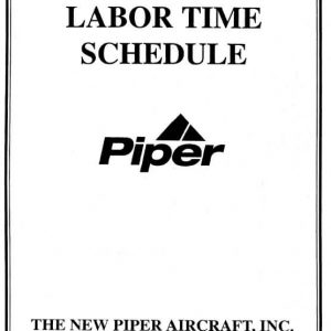 Piper Labor Time Schedule Part No. 753-779